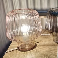 stained glass table lamp living room bedroom bedside table lamp with plugs of various countries and cute decoration pink
