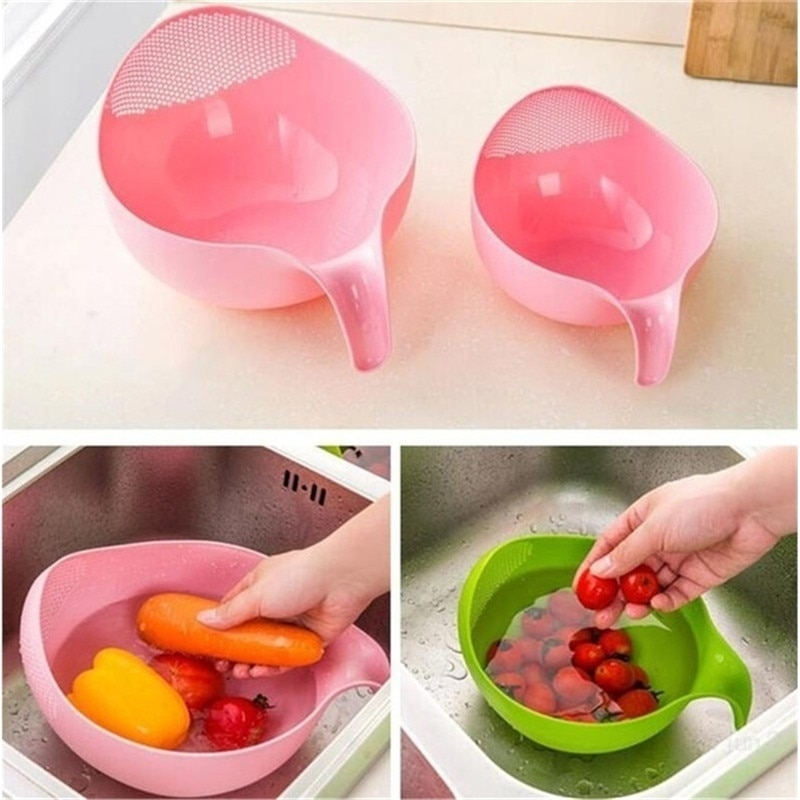 1 шт. средство для мытья риса киноа фильтр для очистки овощей фруктов кухонные инструменты с ручкой новейший пластиковый очиститель риса S/M