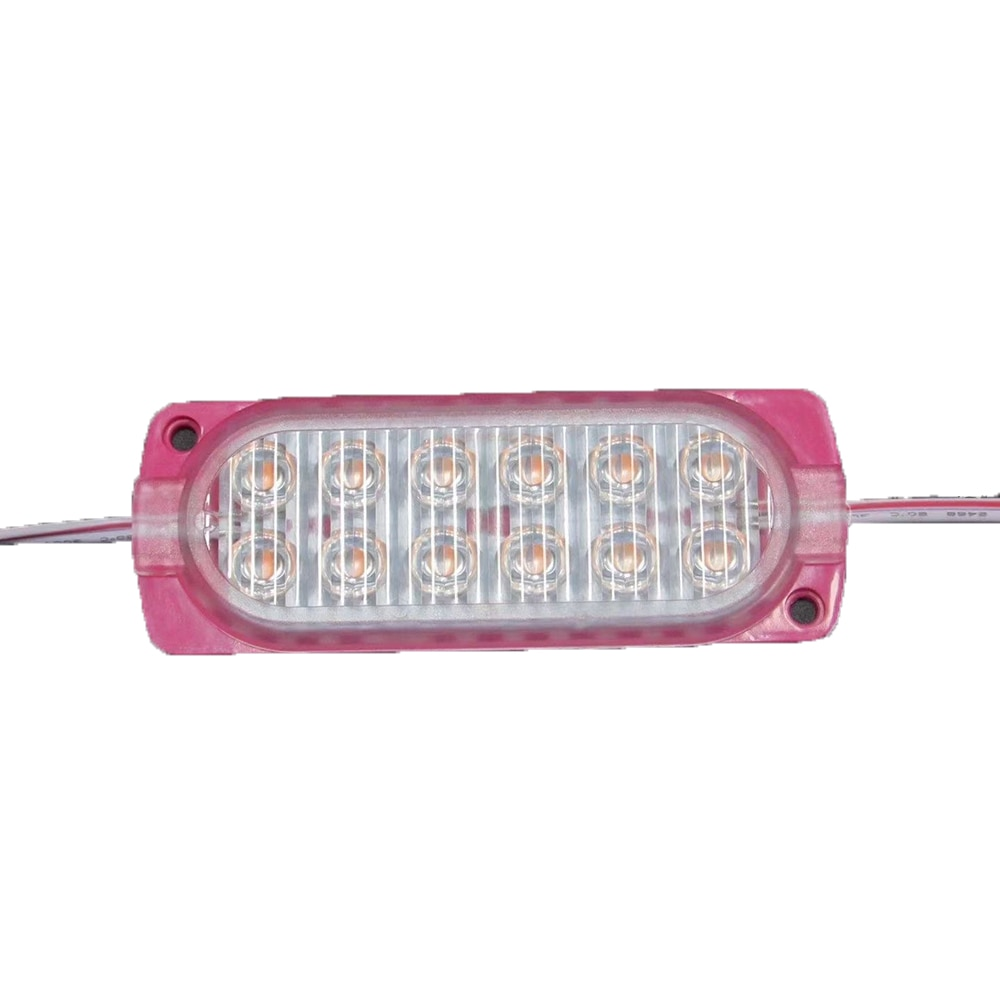 500PCS/Lot Super Brightness Flash Bar Pink RGB 12 Led Module 12v 2835 5W IP65 For Advertising Box Warning Cars Trucks enlarge