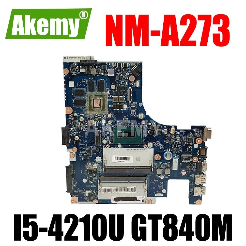 ERILLES Laptop motherboard For LENOVO Ideapad Z40-70 I5-4210U GT840M/GT820M Notebook Mainboard NM-A273 SR1EB N15S-GT-S-A2 DDR3