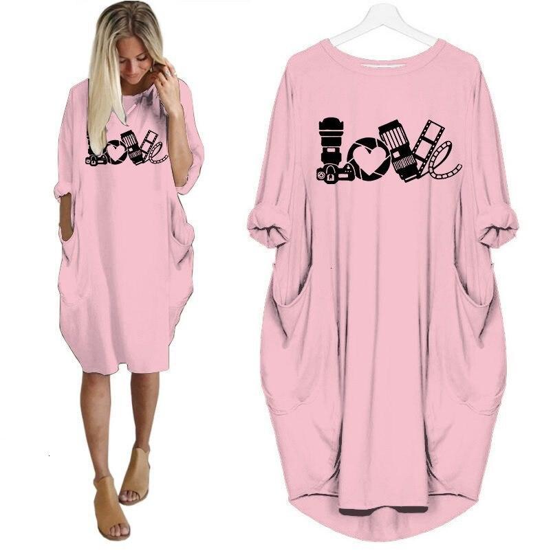 2019 camiseta de moda para mujer divertida Cámara amor camiseta de talla grande camiseta gráfica Top mujeres fuera del hombro Cámara gift-K606