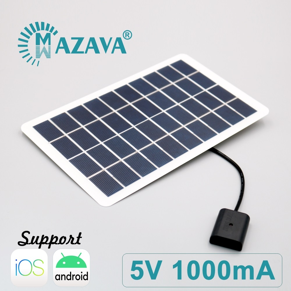 5V 1000mA 5Watts Power Bank Battery USB Powerbank Solar Panel Charger 7 8 6 6s Plus X iPhone X XR XS MAX SE 5 5s 11 12 Pro