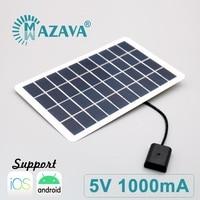 5V 1000mA 5 Вт Мощность банк батарея USB Power Bank портативное зарядное устройство от солнечной энергии, 7, 8, 6, 6s Plus, X, iPhone X XR XS MAX SE 5 5s 11 12 Pro