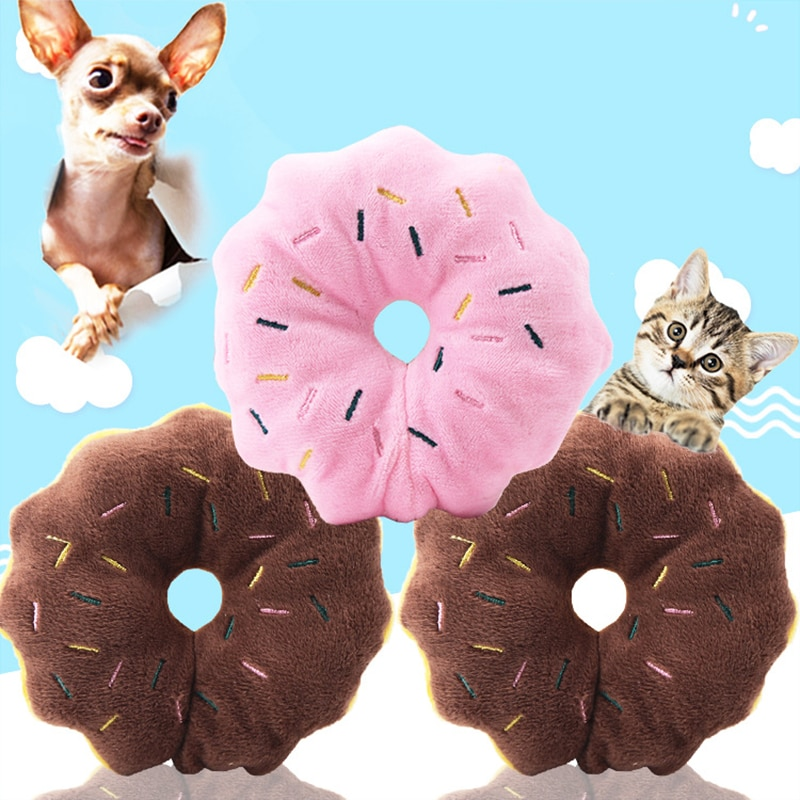 Pelo bonito de Snailhouse, Donuts, juguete masticable para animales, juguete chillón para perros, juguetes interactivos con sonido, suministros para mascotas, Honden Speelgoed