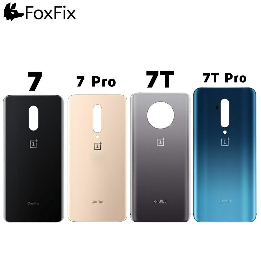 Back Cover OnePlus 7 Pro Battery Cover 7T Rear Door Housing Case One Plus 7 Pro Back Glass Panel OnePlus 7T Pro Battery Door