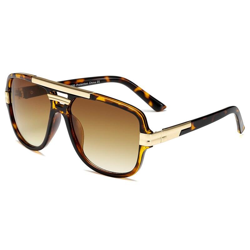 Солнечные очки в винтажном стиле UV400 Мужские, брендовые дизайнерские модные квадратные Роскошные солнечные очки с защитой от ультрафиолета