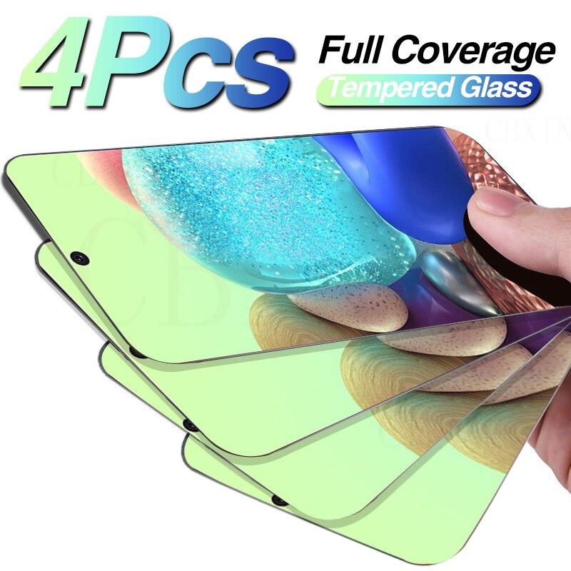 4PCS Completa Capa Protetora de Vidro Em Para Protetor de Tela Samsung Galaxy A20 A50 A20E A50S A51 A71 A70 A10 A30S A40 A60 A80 Vidro