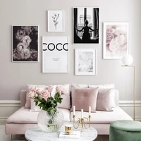 Affiche de mode nordique fleurs toile peinture citation mur Art photos pour salon moderne maison impressions decoratives sur le mur