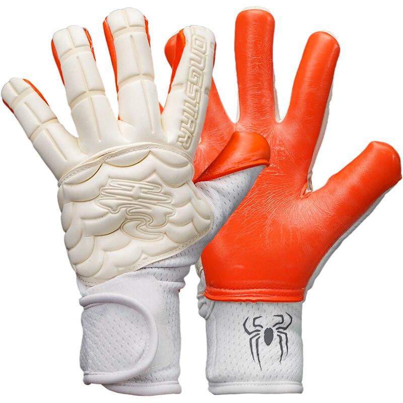 Luxury Latex Football Goalkeeper Gloves Finger Protection Professional Soccer Goalkeeper Gloves 2021 New Non Slip Football Glove