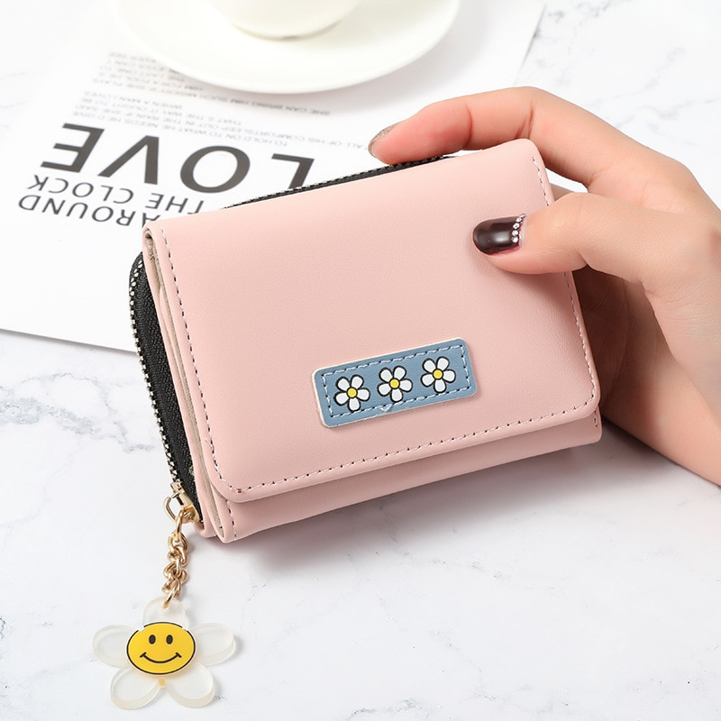 Trend Leather Wallet bag Brand Fresh Girls small wallet Trifold purses and handbags Multi card holder wallets for women ladies
