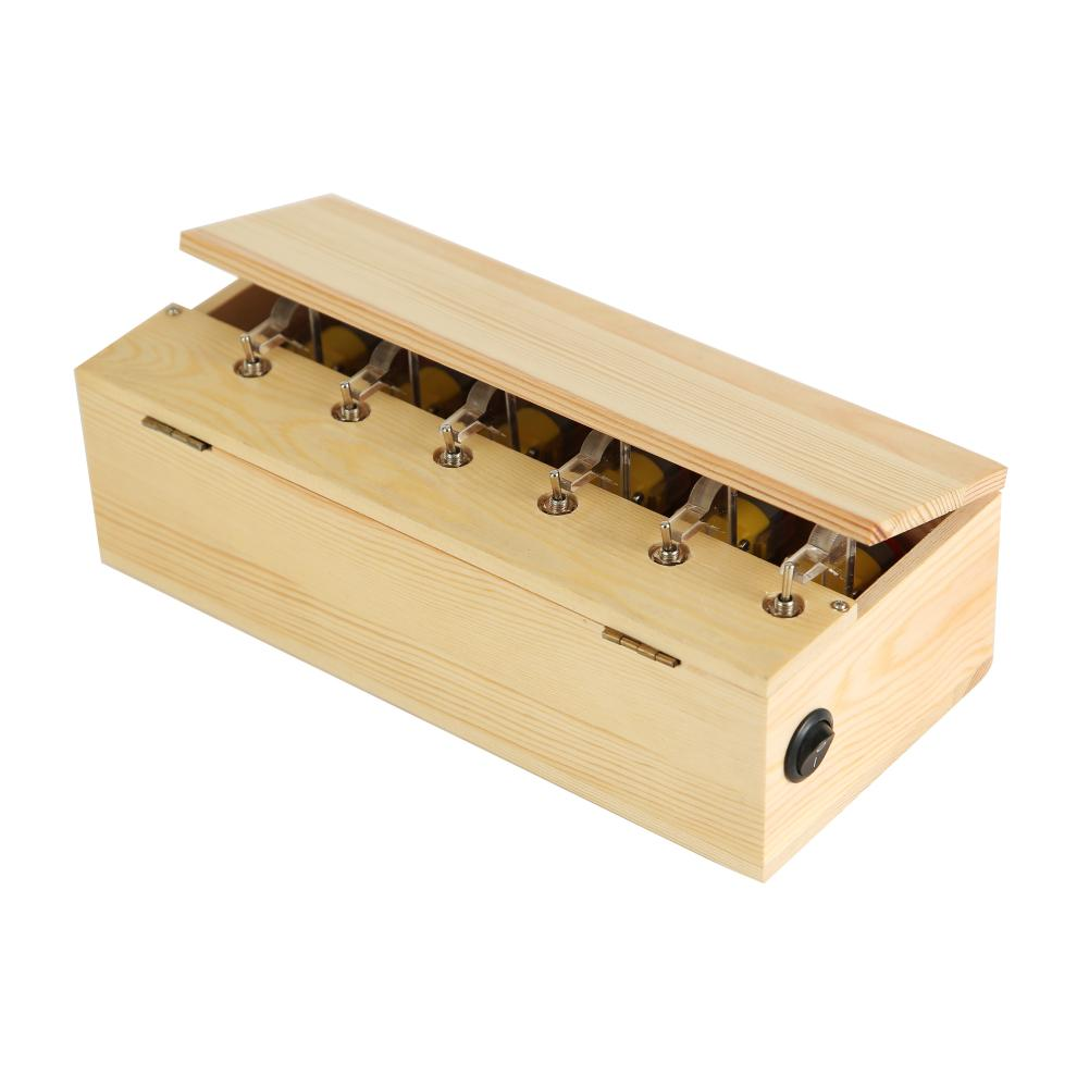 RCtown صندوق عديم الفائدة خشبية صندوق عديمة الفائدة الإلكترونية تجميعها بالكامل لعبة للأطفال هدية عيد ميلاد ألعاب مضحكة تفاعلية