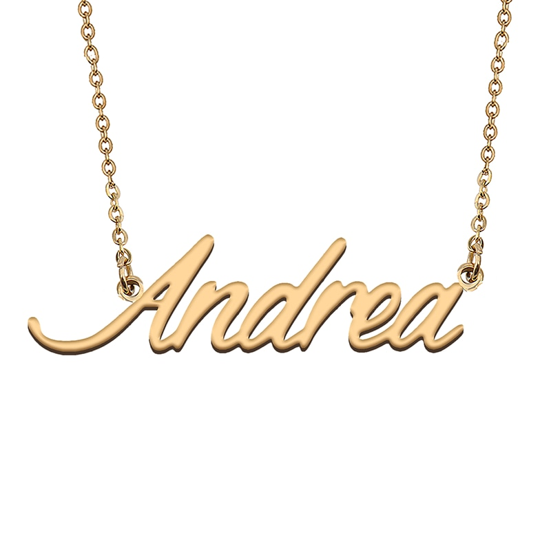 Andrea Custom Name Necklace Customized Pendant Choker Personalized Jewelry Gift for Women Girls Friend Christmas Present
