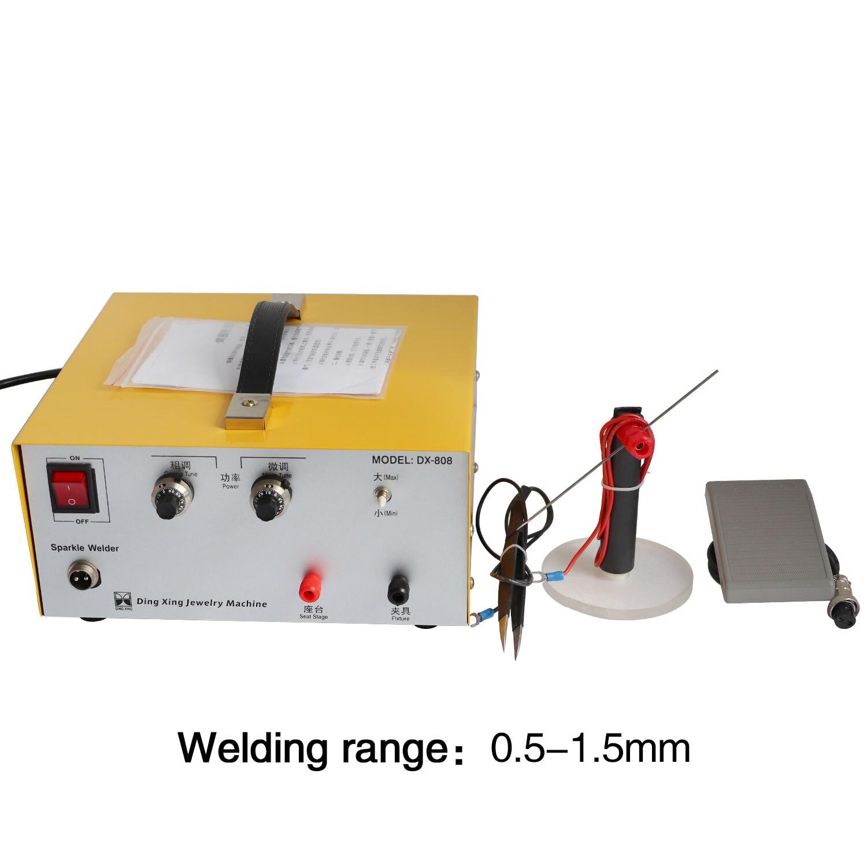 80A Pulse Spot Welding Hand Held Pulse Spot Welder Spot Welding Machine  Gold And Silver Jewelry Processing
