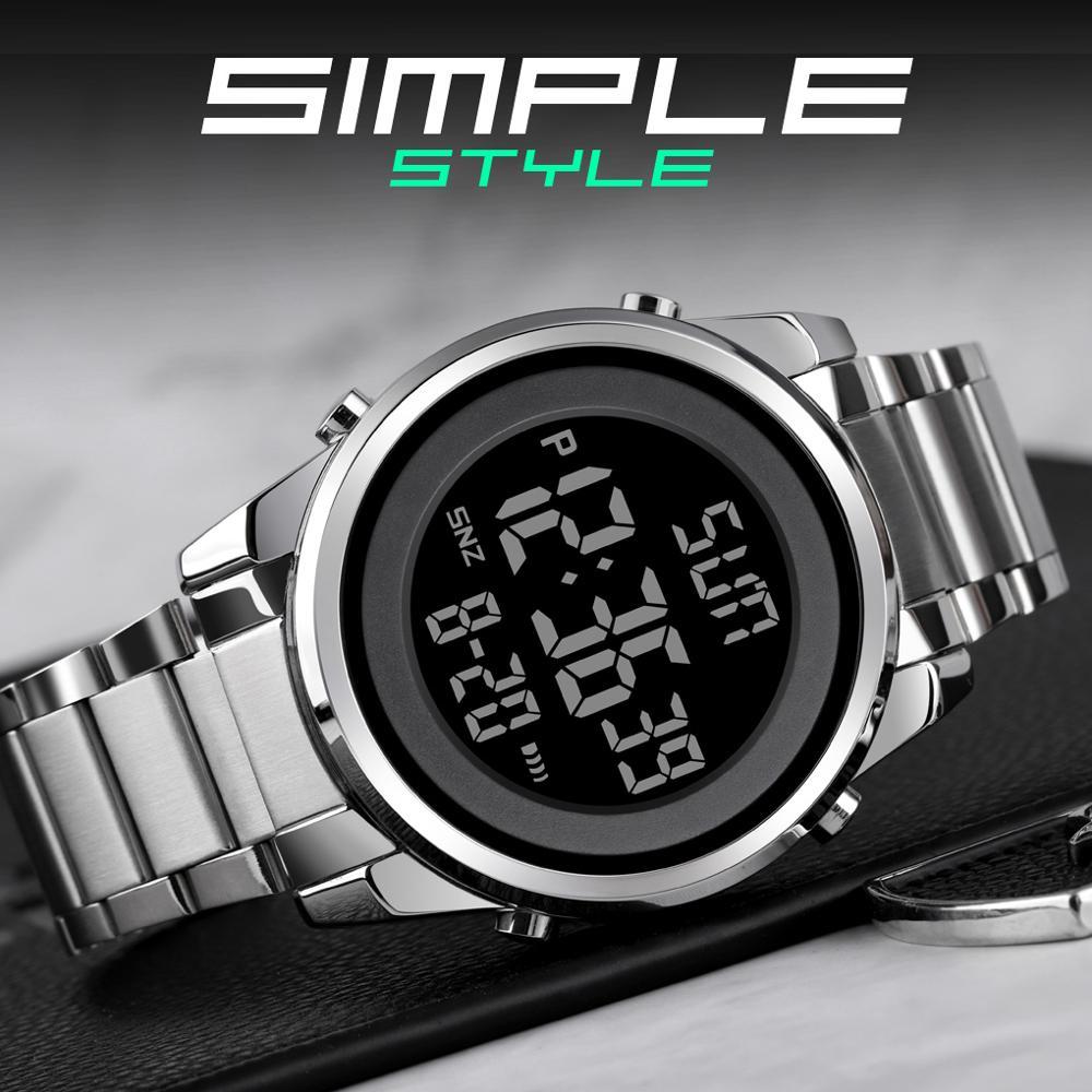Skmei Digital Men's Watches Fashion LED Men Digital Wristwatch Male Clock Hour For Mens Reloj Hombre Electronic Watch 1611