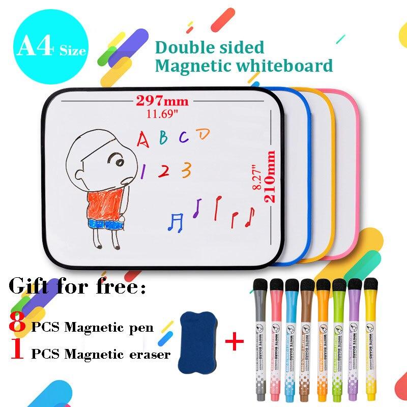 Двухсторонний записи доска для рисования для детей магнитно-маркерная доска со стирающейся от маркера маленькие белые туфли доска Силикон...