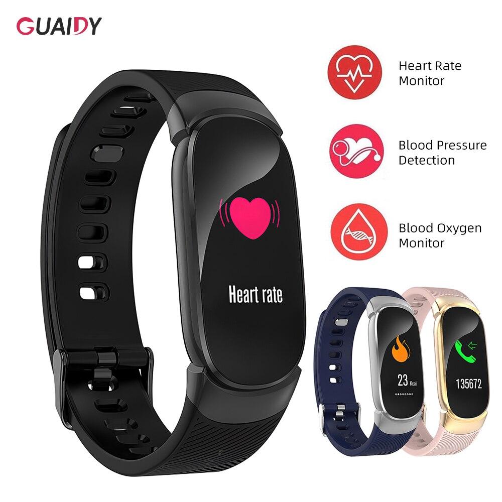Mensaje recordatorio pulsera inteligente mujeres hombres presión arterial salud sueño monitoreo Bluetooth Reloj GPS para Xiaomi Mi 9 iPhone IOS