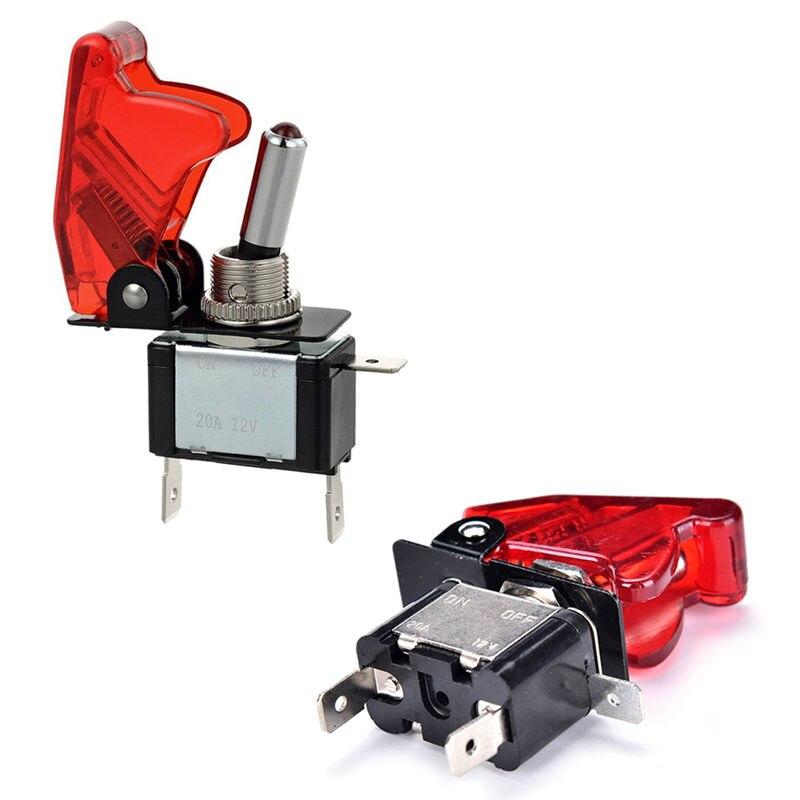 Venda quente 5 cor 12 v 20a carro de corrida caminhão moto barco capa led botão rocker alternar interruptor controle
