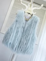 haining fur vest coat womens 2021 new raccoon dog hair knitting young style fashionable thin and out of season
