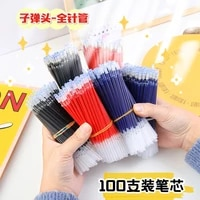100 pcs gel pen refill 0 5mm replacement office school writing stationery accessory office accessories gel pens