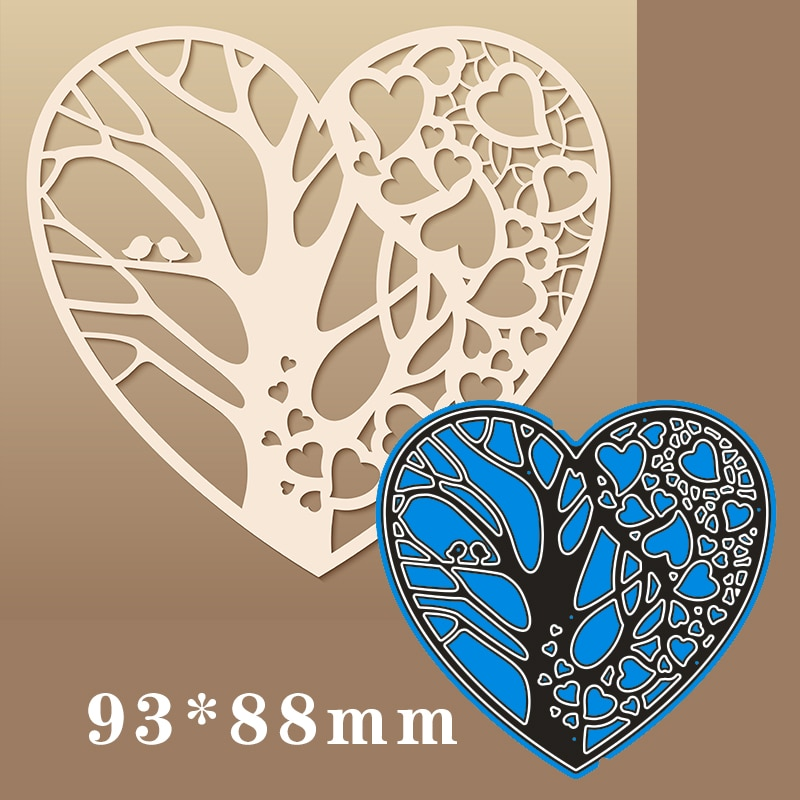 93*88mm Heart-shaped openwork pattern Metal steel frames Cutting Dies DIY Scrap booking Photo Album Embossing paper Cards