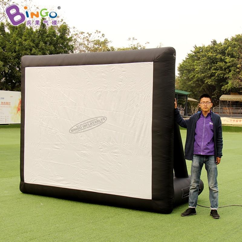 شحن مجاني 3x1.6x2.5 متر نفخ شاشة الإسقاط/شاشة السينما/الشاشة المطاطية