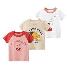 Orangemom Offical Store Mother Kids Girls Summer Cotton Cartoon Pattern O-neck Short Sleeve Casial T-shirt For Kids Girl Tops