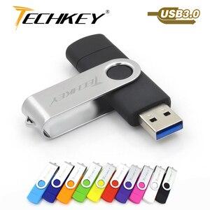OTG флеш-накопитель usb 3,0 32 ГБ 16 ГБ 8 ГБ флешка memoria cel usb флешка 128 Гб 64 Гб Водонепроницаемый u-диск для мобильного телефона