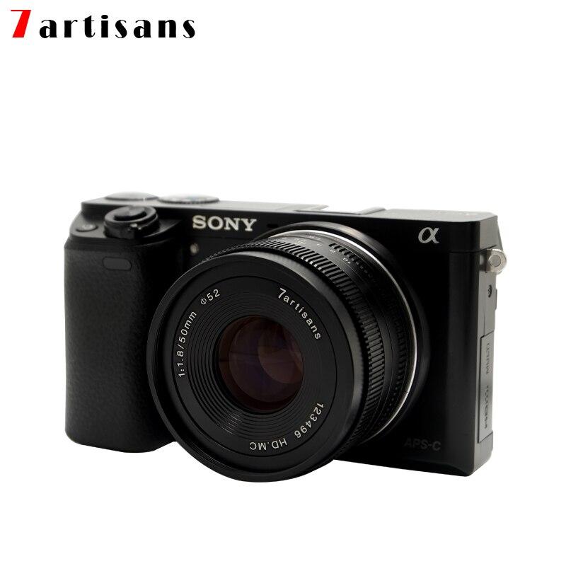 7artisans 7 artisans 50mm f1.8 Large Aperture Portrait MF Prime Lenses Fit For Canon EOS-M M50 M100/Sony E A7/Fuji FX/M4/3 mount enlarge