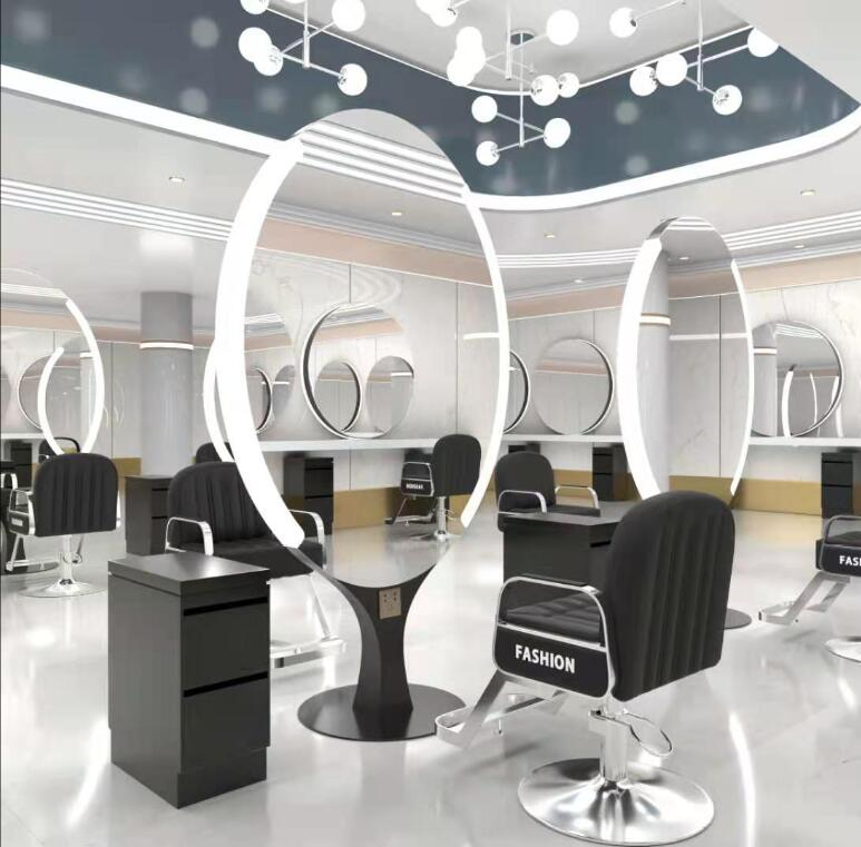 Парикмахерская зеркала, Парикмахерская зеркала, парикмахерский салон специальные светодиодный пол двухсторонняя стрижка зеркало с светил...