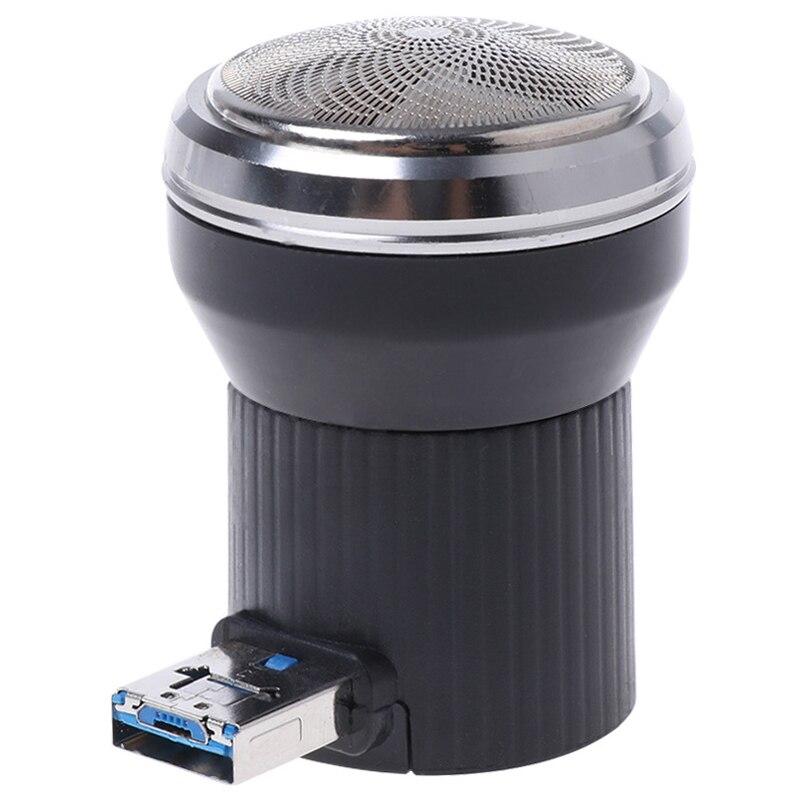 Top Deals Creative Electric Shaver Mini Portable USB Power Plug Travel Beard Trimmer Razor