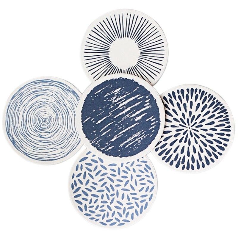 Productos para el hogar diatomita estilo japonés creativos posavasos absorción de humedad respetuoso con el medio ambiente creativo