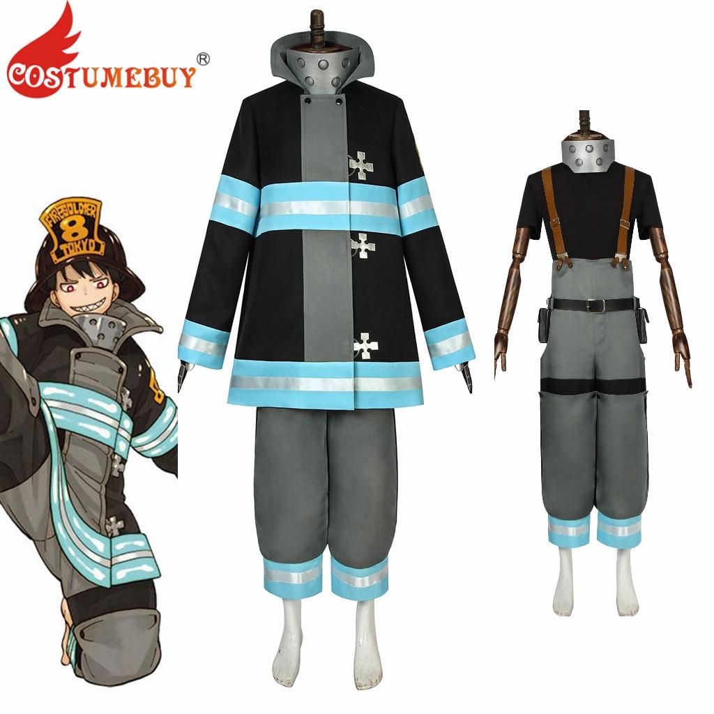 CostumeBuy-زي تنكري من أنيمي Fire force Shinra Kusakabe ، بدلة مكافحة الحرائق للبالغين ، بدلة مخصصة L920