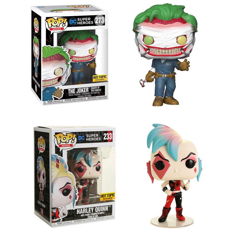 Funko pop original oficial dc comics super heróis harley quinn o coringa figuras modelo de brinquedo presentes coleção boneca