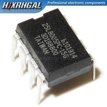 1 قطعة MX25L8005PC-15G MX25L8005PC DIP-8 8 ميغابت 1MB SPI فلاش BIOS شريحة ذاكرة سريعة