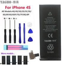 Batería 100% Original 5A 1430mAh para Apple iPhone 4 S 4S 4GS 5 5S SE 6 iPhone4S Real capacidad 0 ciclo con Kit de herramientas de reparación