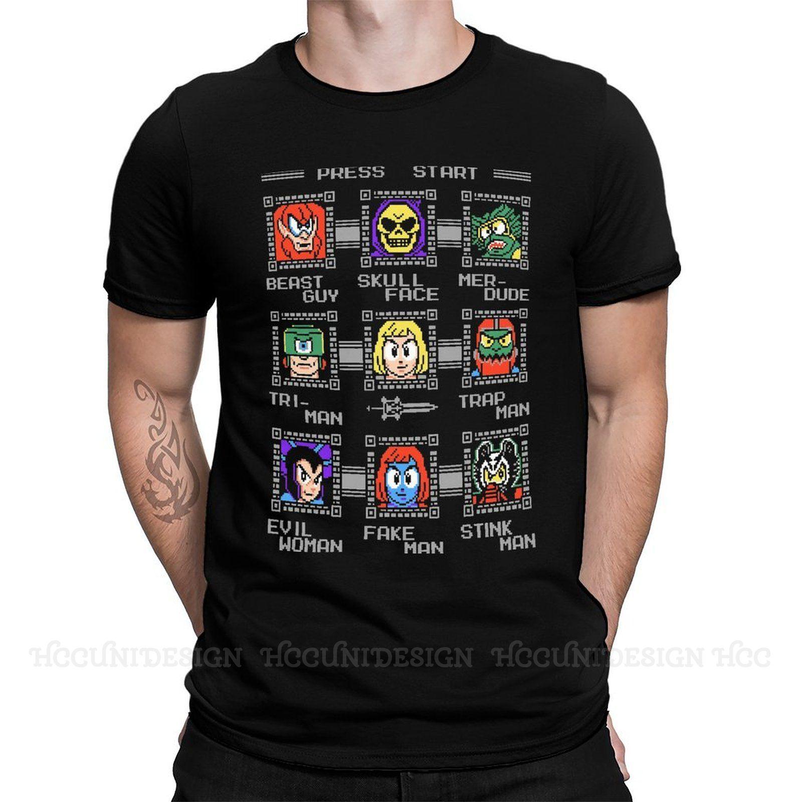 Camiseta de algodón con estampado de Mega calidad para Hombre, Camiseta de...