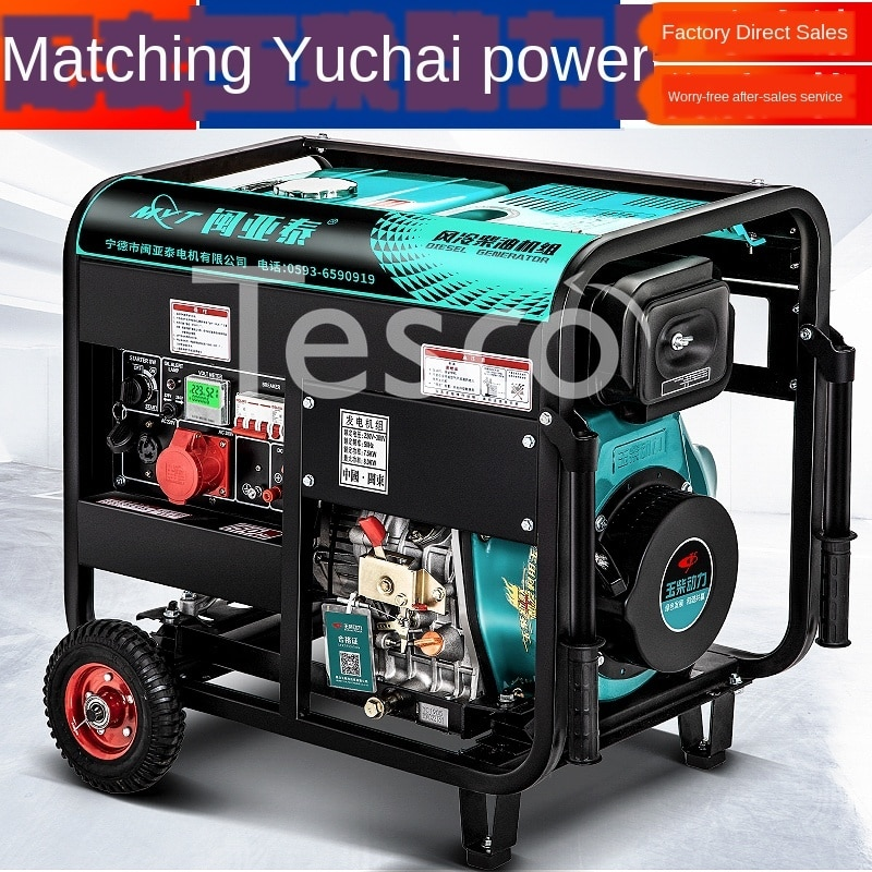 diesel generator hyundai dhy8500se t power home appliances backup source during power outages diesel power stations Power Diesel Generator Set Home with 220v Small 3/5/6/8 KW 10kW Single Three-Phase 380 Mute
