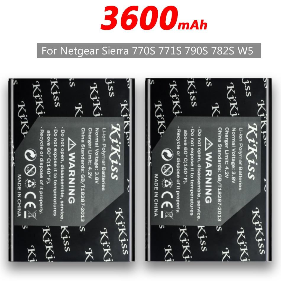 W-5 de batería de teléfono de 3600mAh para Netgear Sierra 770S 771S 790S 782S W5 + número de seguimiento