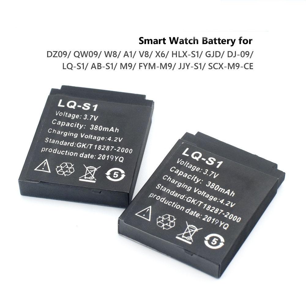 1-4 stücke Smart Uhr Batterie Langlebig SmartWatch LQ-S1 3,7 V 380mA Lithium-Akku für DZ09 W8 A1 QW09 KSW-S6 RYX-NX9