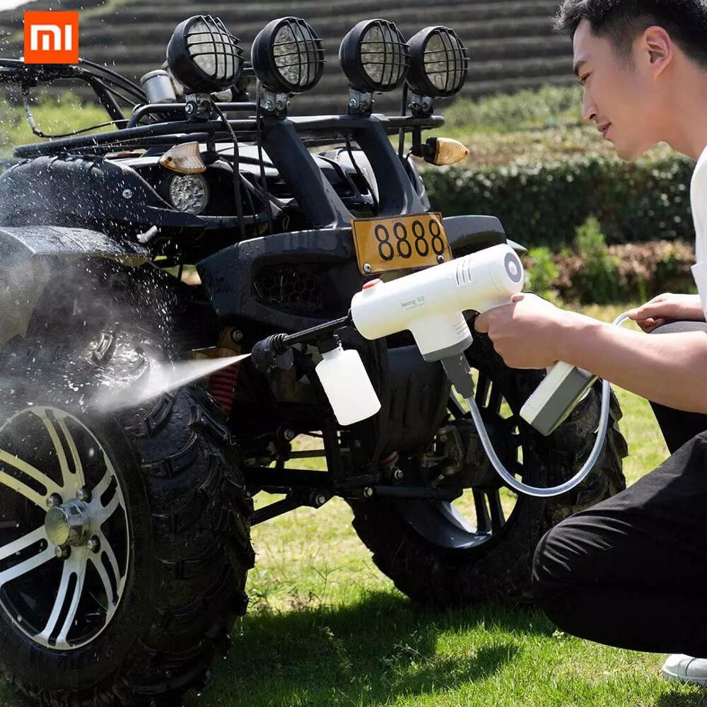 Elétrica sem Fio Lavagem de Carro Ferramentas para Carro Xiaomi Você Pino Lekong Pistola Arma Limpa Máquina Água Alta Pressão Polvilhe