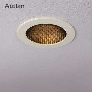 Aisilan LED Spot light Led Recessed Downlight Unique Cellular Anti-Glare Design indoor lighting  Cut out 8CM