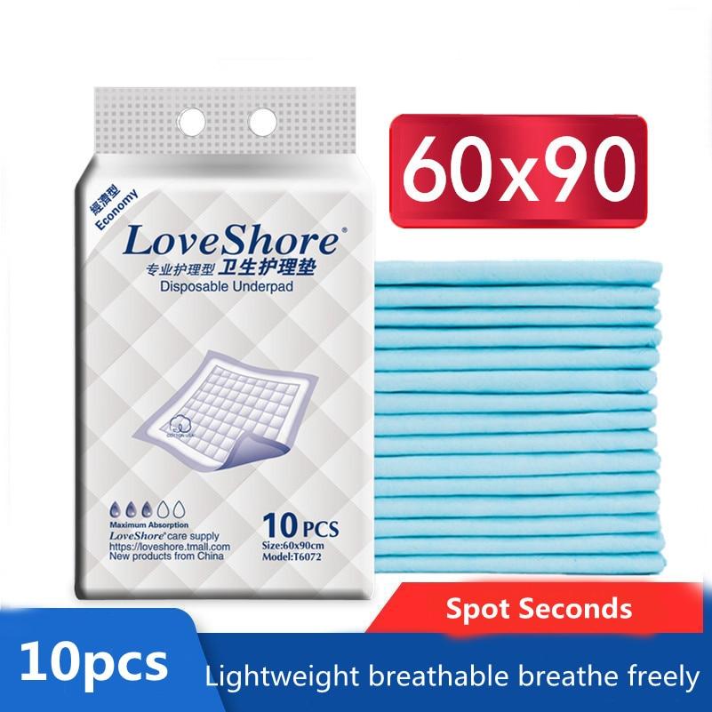 10PCS/Bag Super Absorbent Underpad Adult Incontinent Nursing Urine Pad Adult Leak-Proof Disposable Diaper Pad For The Elderly