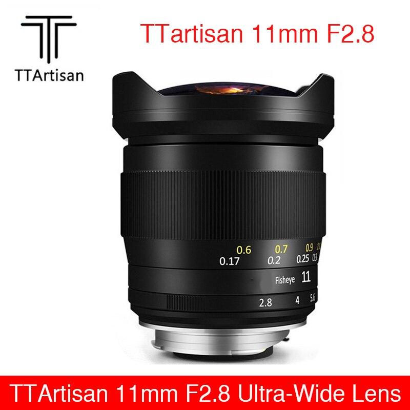 TTArtisan 11 مللي متر F2.8 فائقة واسعة فيش عدسة يدوية ل لايكا ل سوني E كانون RF نيكون Z جبل كاميرا A7R3 A7S A7RII A6300 Z6 Z7
