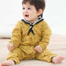 ATUENDO Spring Fashion Newborn Baby Girl Clothes Autumn Warm Soft Infant Boy Romper 100% Cotton Silk