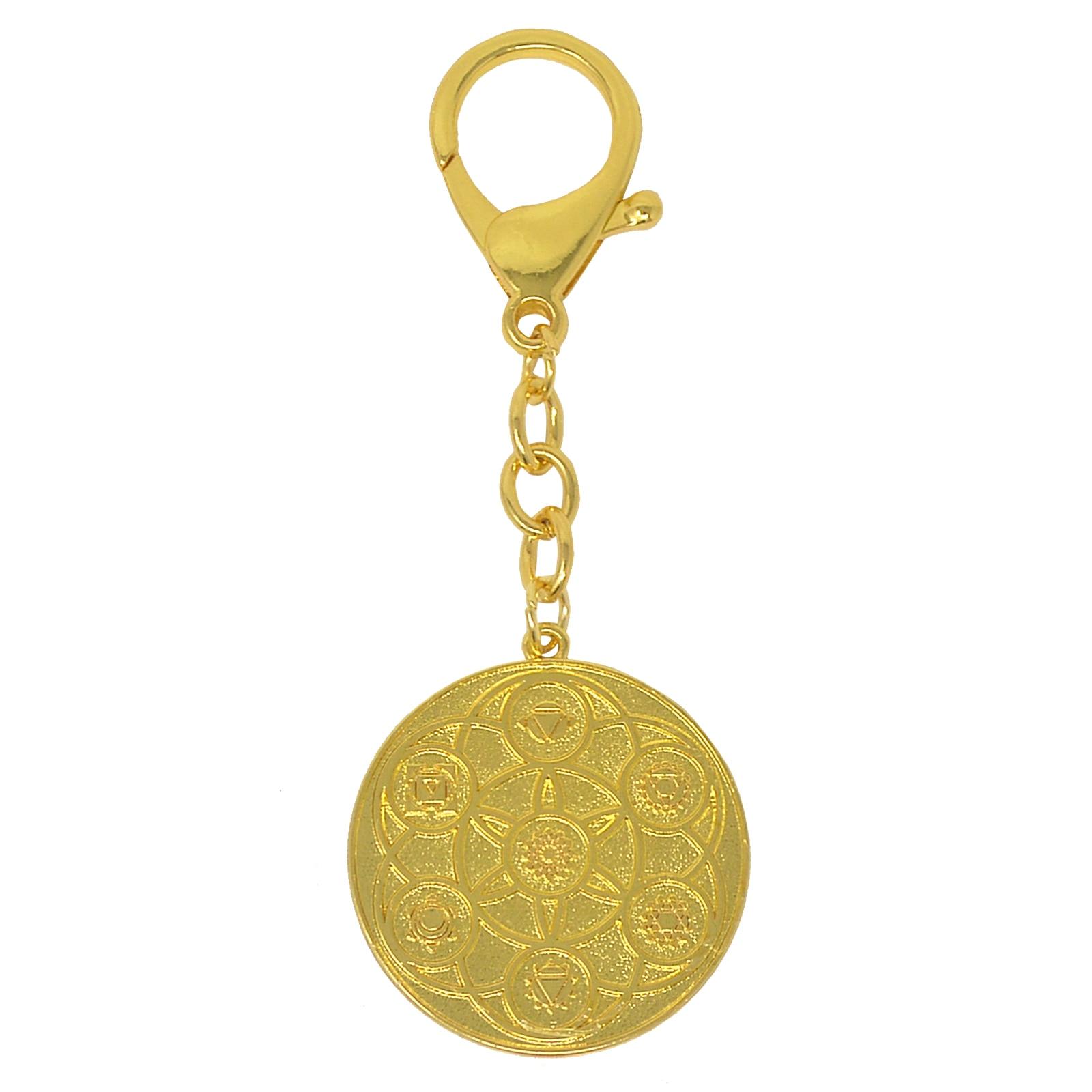 سلسلة مفاتيح فنغ شوي ، زهرة الشمس التبتية الذهبية ، قوة الحياة ، W4379