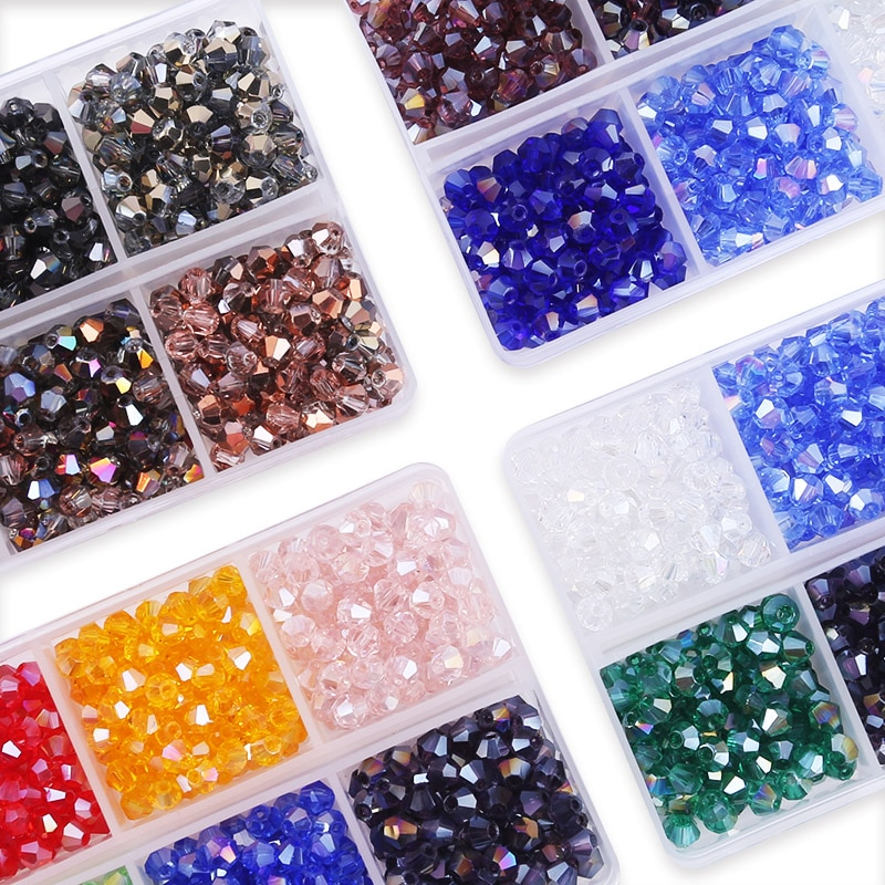 AliExpress - 600pcs/lot 4mm Plated Color 5238 Bicone Beads Loose Spacer Beads Austria Jewelry Beads for Sewing Diy Supplies Jewelry Making