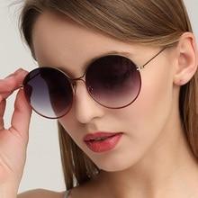 Luxury Brand Shades Women Round Gafas De Sol 2021 Oversize Sunglasses Vintage Oculos Fashion Men Dri