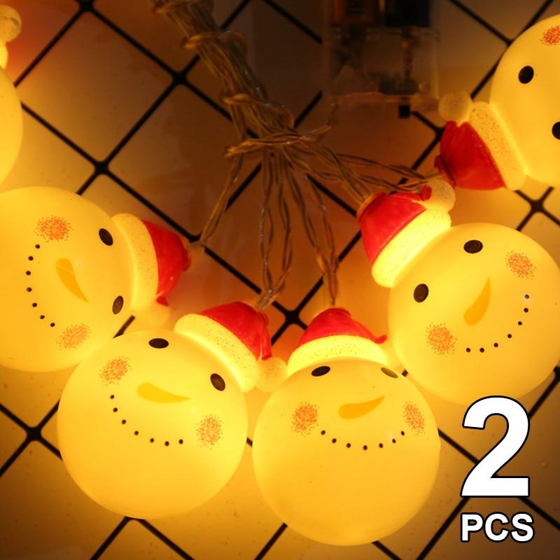 Luces de navidad decoración de navidad muñeco de nieve decoraciones para árbol...