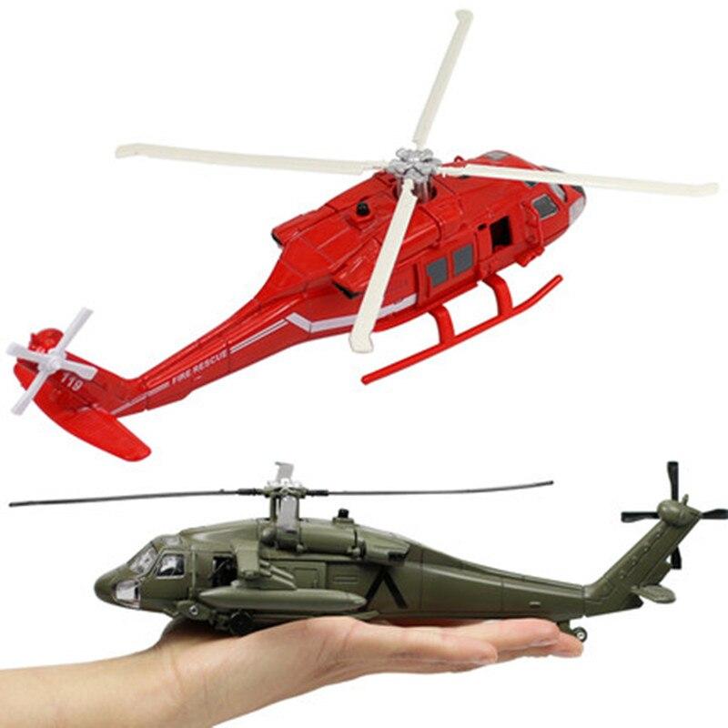 50% de descuento, helicóptero de alta aleación de simulación Black Hawk, modelo de helicóptero juguete de fuego, Avión de juguete de sonido y luz, Envío Gratis