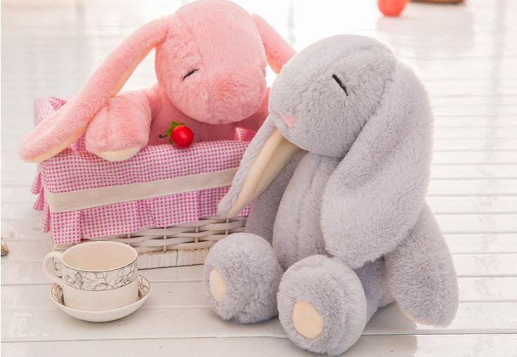Cute soft Bunny doll Plush toys Stuffed cartoon rabbit Sleep Bunny doll Birthday Gift toy Girls Gift недорого